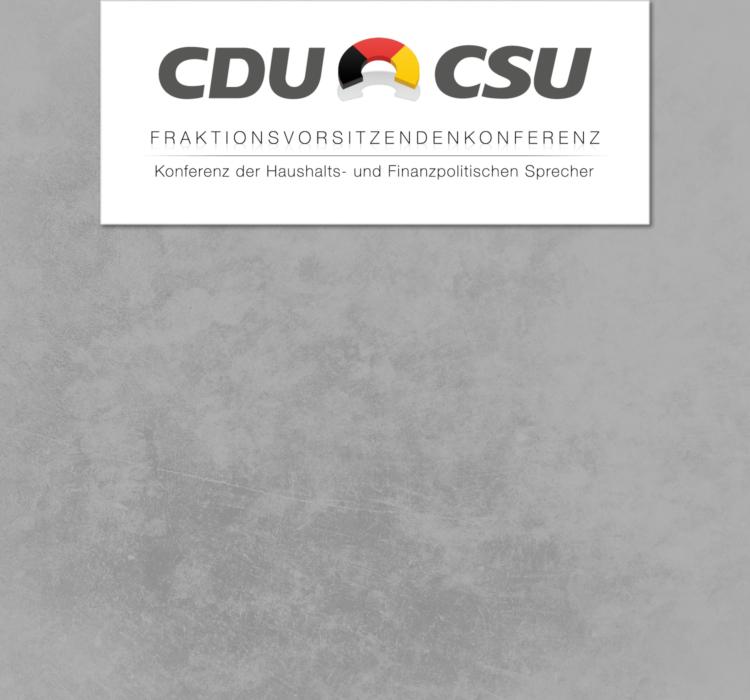 Haushalts- und Finanzsprechertagung der CDU/CSU-Fraktionen