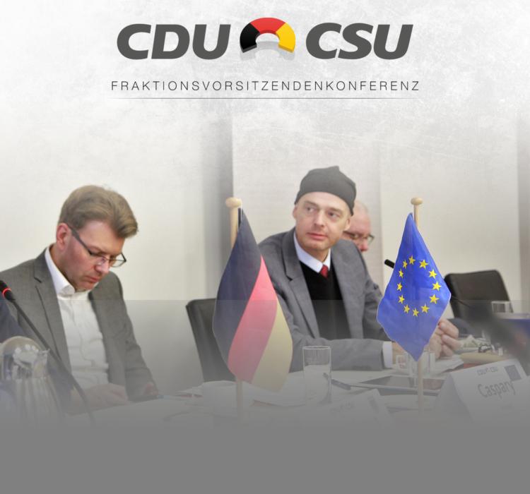 CDU/CSU-Fraktionsvor- sitzendenkonferenz in Brüssel