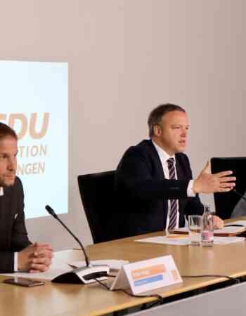 CDU-Fraktion stellt Maßnahmenpaket für einen Neustart Thüringens vor