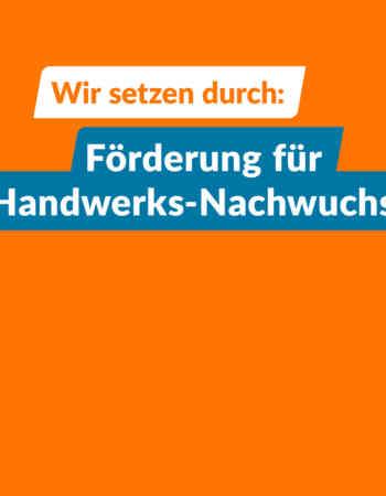 Wir zünden den Thüringen-Turbo für unseren Handwerkernachwuchs!
