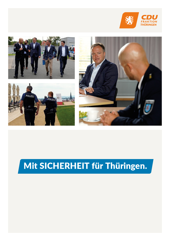 Mit SICHERHEIT für Thüringen.