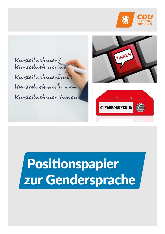 Positionspapier  zur Gendersprache