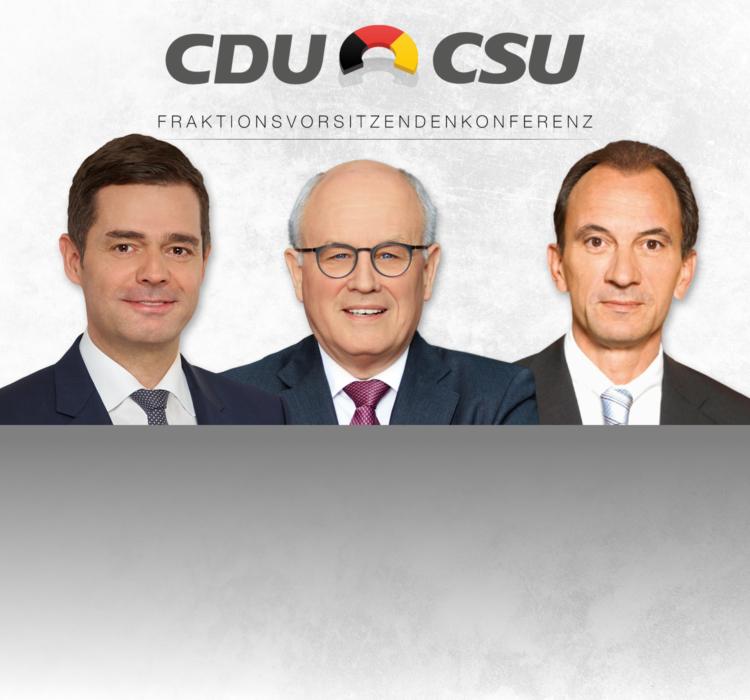 Pressekonferenz CDU/CSU-FVK