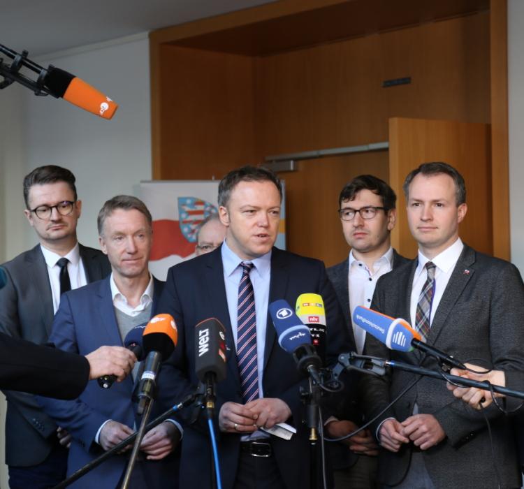 Abgeordnete danken Mike Mohring für 12 Jahre an der Spitze der CDU-Fraktion