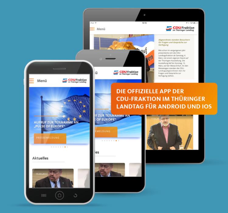 App der CDU-Fraktion im Thüringer Landtag ist jetzt verfügbar