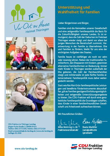 Unterstützung und Wahlfreiheit für Familien