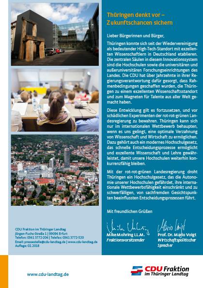 Thüringen denkt vor – Zukunftschancen sichern