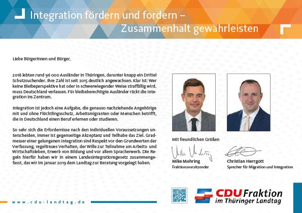 Integration fördern und fordern – Zusammenhalt gewährleisten