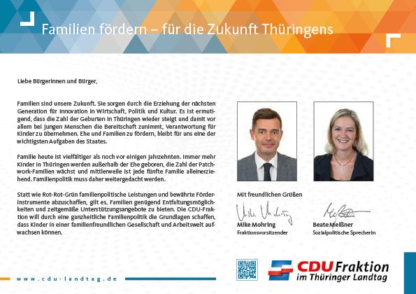 Familien fördern – für die Zukunft Thüringens