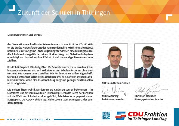 Zukunft der Schulen in Thüringen