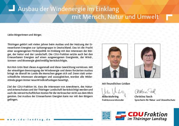 Ausbau der Windenergie im Einklang mit Mensch, Natur und Umwelt Mit freundlichen