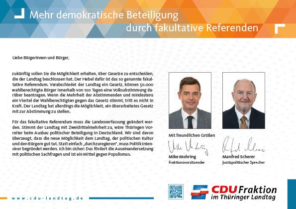 Mehr demokratische Beteiligung durch fakultative Referenden