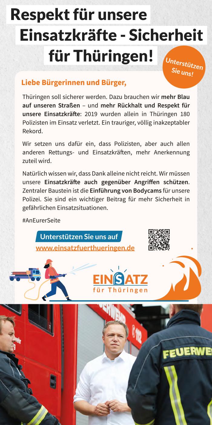 Einsatz für Thüringen