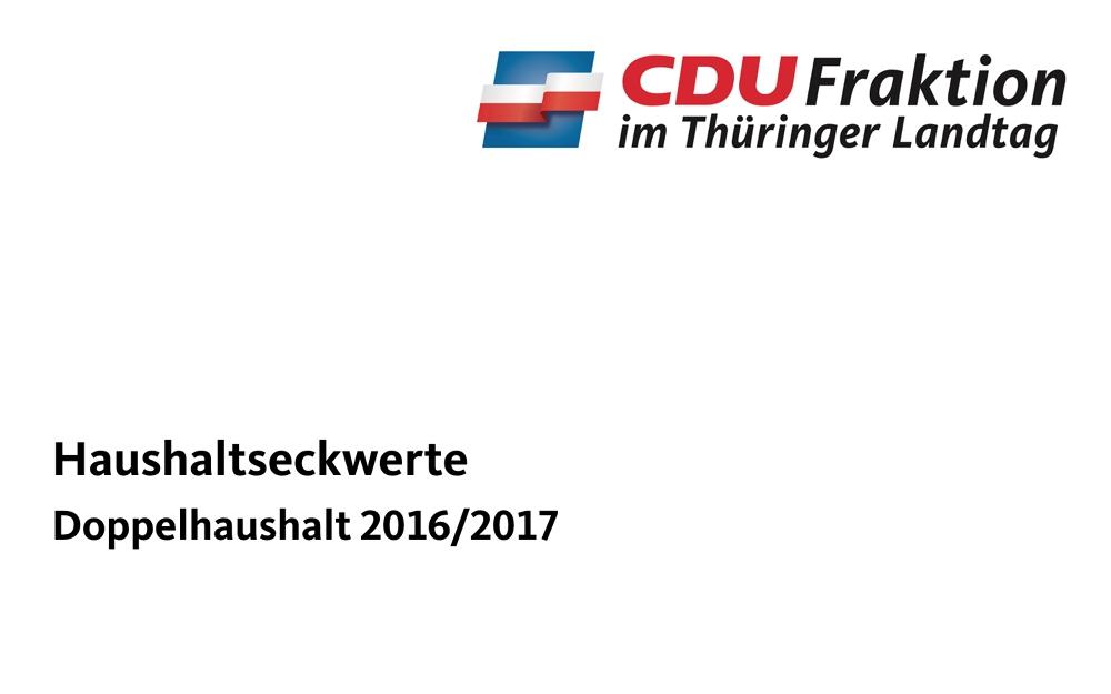 Haushaltseckwerte – Doppelhaushalt 2016/2017