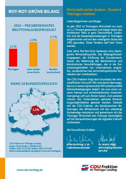 Wirtschaft weiter denken - Standort Thüringen stärken!